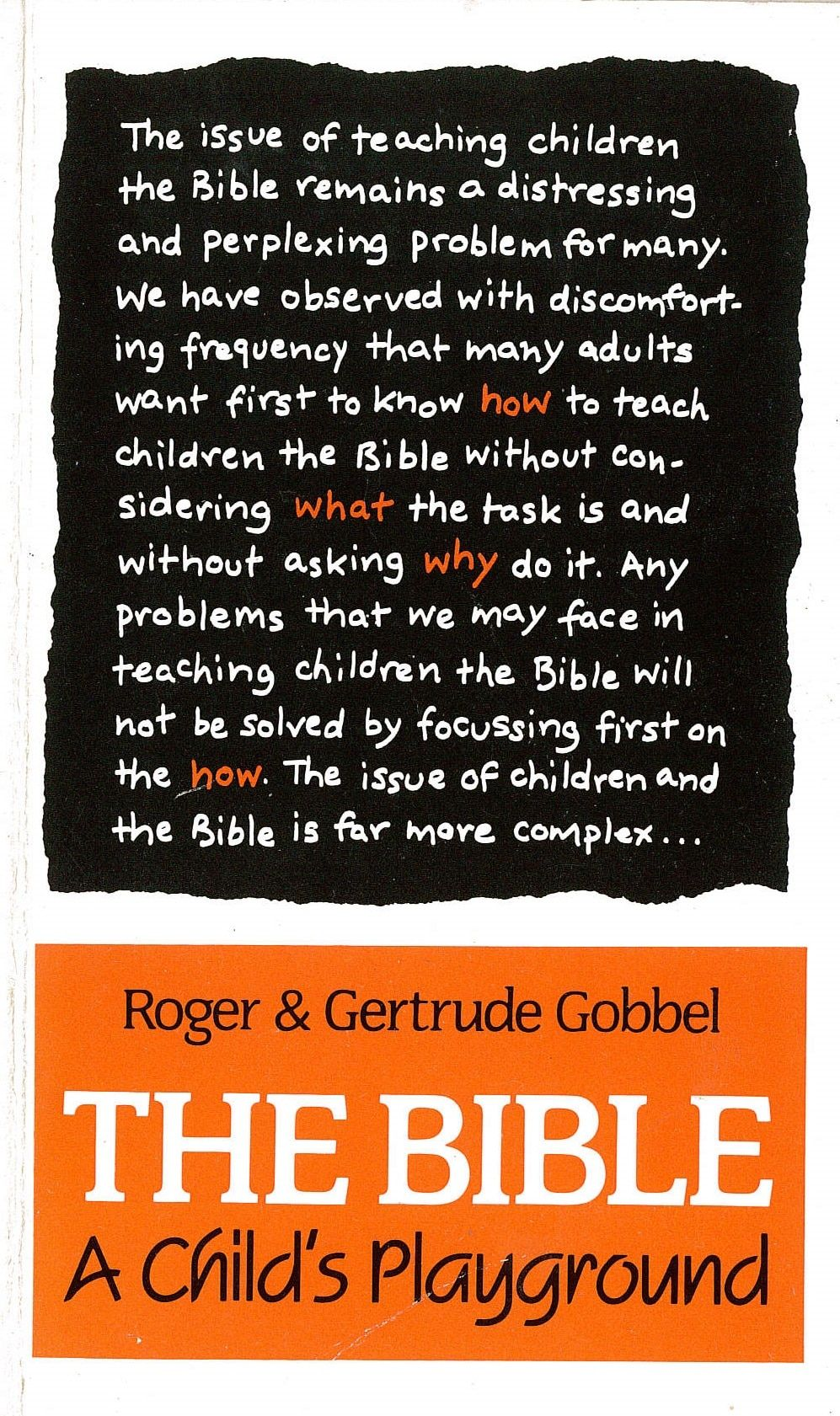 The Bible: A Child's Playground Cover